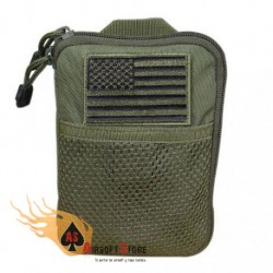 CONDOR MA16-001 Pocket Pouch with US Flag Patch OD