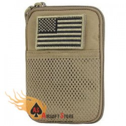 CONDOR MA16-003 Pocket Pouch with US Flag Patch COYOTE