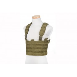 SCOUT CHEST RIG MOLLE TACTICAL VEST - Olive Drab