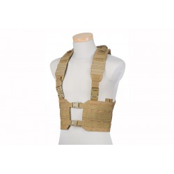 SPLIT CHEST RIG TACTICAL VEST - Tan