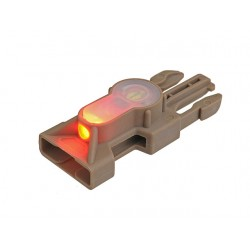 COMPACT LED STROBE MARKER FOR SNAP LOCK BUCKLE - DARK EARTH (LUZ ROJA) [FMA]