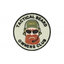 "PARCHE PVC ""TACTICAL BEARD OWNERS CLUB"" MARRÓN"