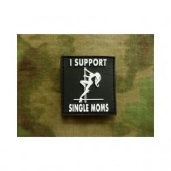 "PARCHE ""I SUPPORT SINGLE MOMS"" NEGRO"