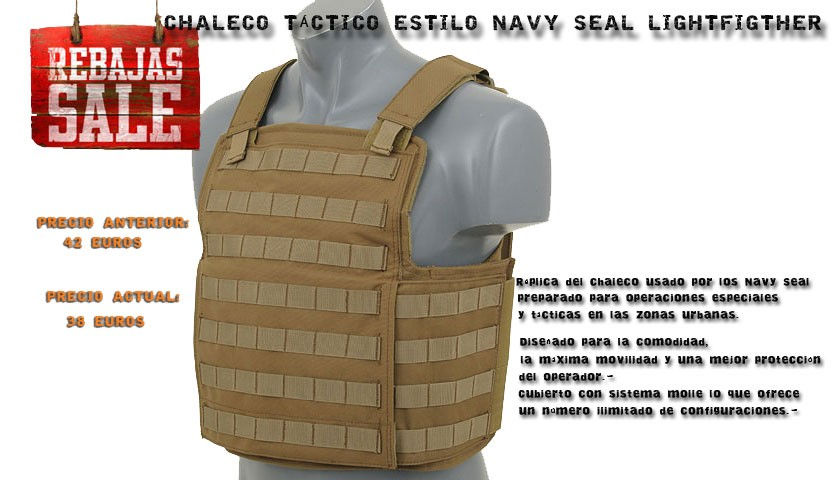 chaleco Navy Seal Lightfighter
